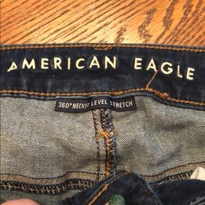 American Eagle Outfitters Jeans - American Eagle distressed dark wash jeans 4 short
